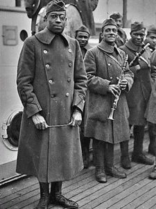 James Reese Europe, Conductor of the Harlem Hellfighters Band and fellow Doughboy bandmembers